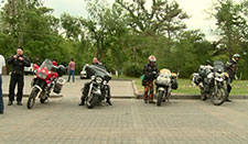 The visit of four bikers to Armenia