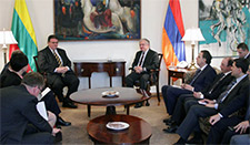 Lithuania's Foreign Minister Linas Linkevicius is in Armenia