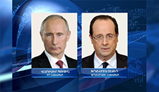 Presidents of Russia and France discussed the issue of Nagorno Karabagh conflict settlement.