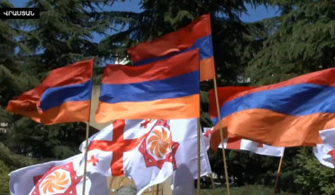 Armenian rally in front of Turkish Embassy in Tbilisi
