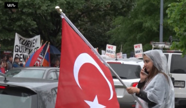 Turkish counter-protests in Washington