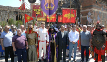 Second flame of Pan-Armenian Games ignited in Khor Virap
