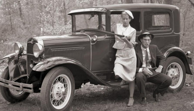 American Criminal Couple Bonnie and Clyde