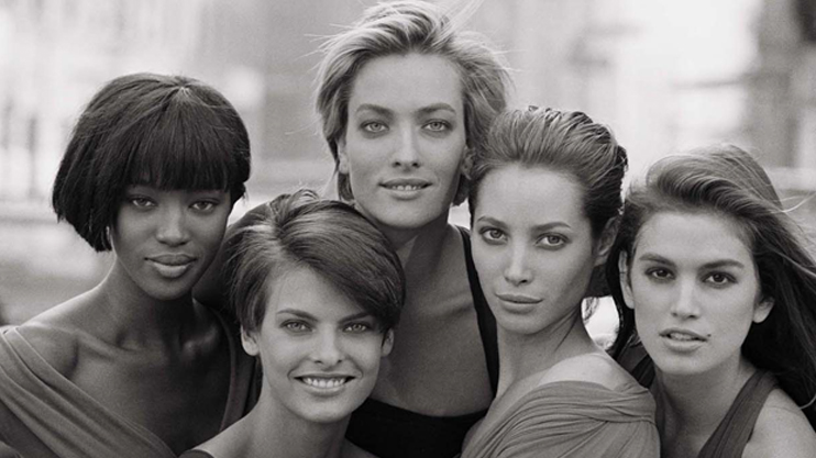 Supermodels in the '90s
